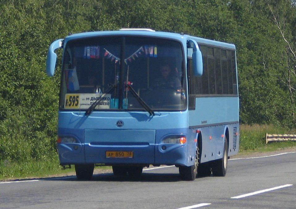 Маршрут автобуса к595 Дыбенко Пупышево